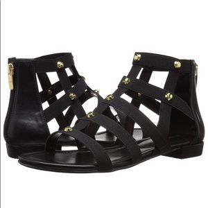 Marc Fisher gold studded Gladiator Sandals